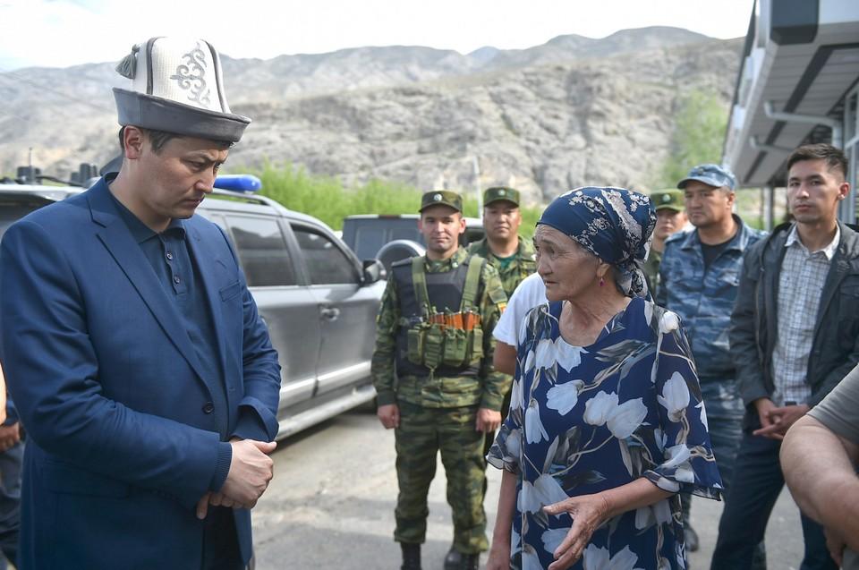 Марипов встретился с жителями села Кок-Таш.