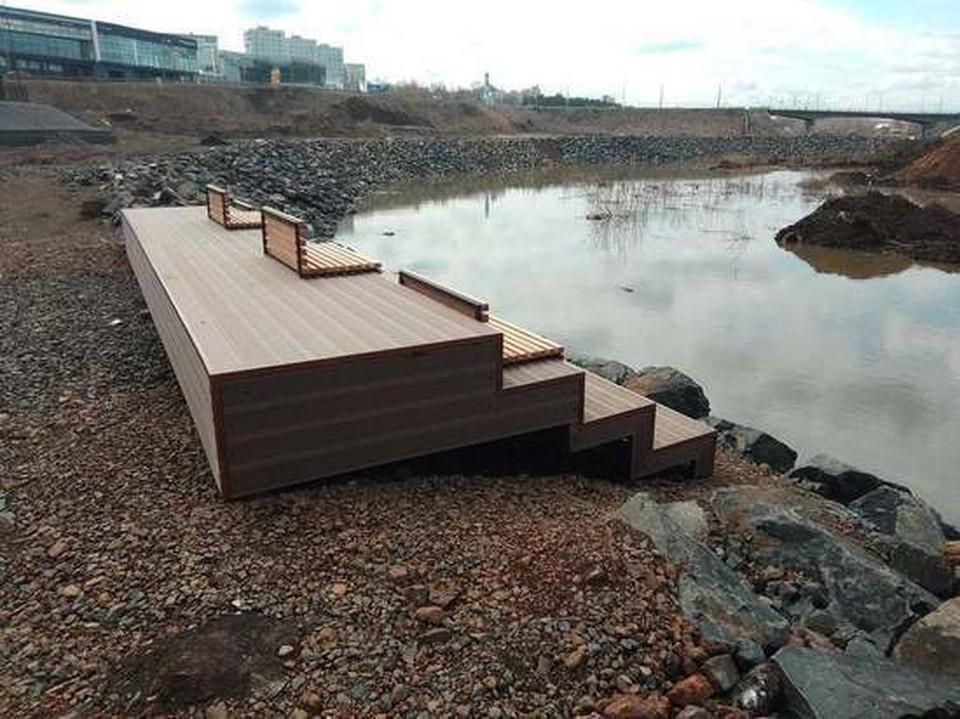 В Кемерове на берегу Искитимки появилась новая смотровая площадка. Фото: Евгений Клейменов/Facebook.