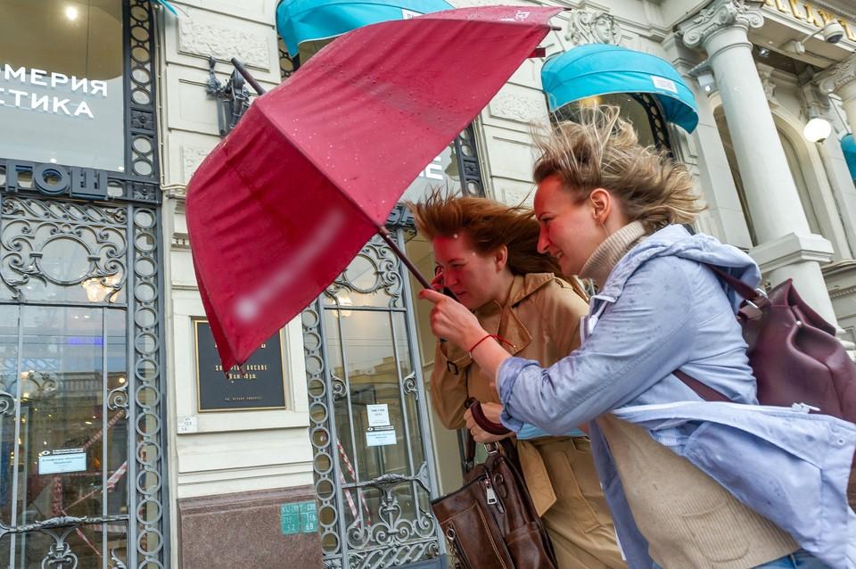 Порыв ветра вырвал из рук сотрудницы магазина ворота, и те покалечили прохожую.