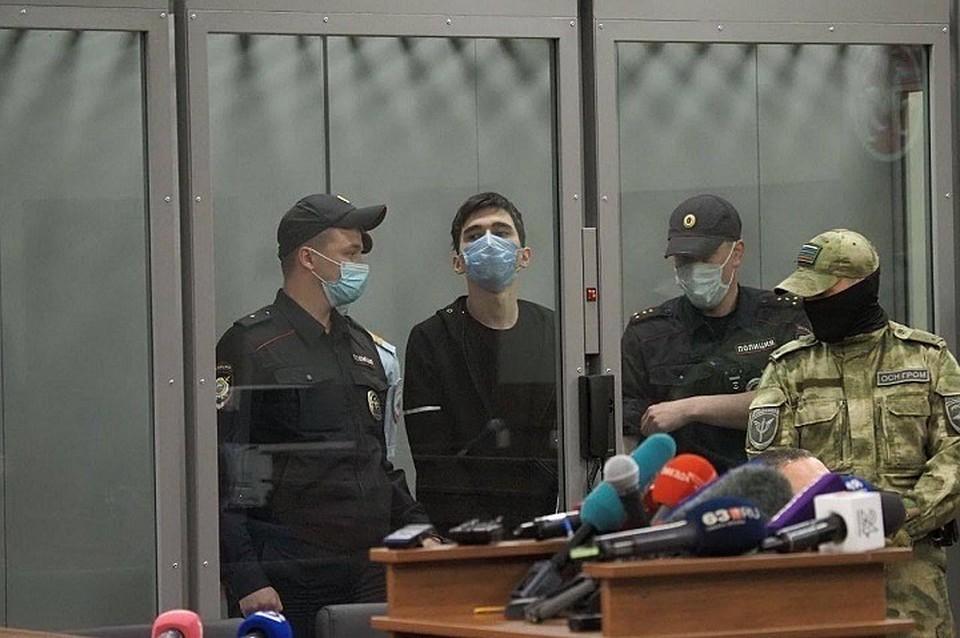 На суде Галявиев вел себя не так дерзко, как на допросе. Фото: пресс-служба Советского суда Казани.
