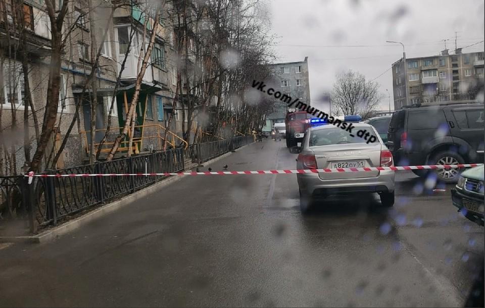 Жильцов эвакуировали из одного из домов на проспекте Кольский. Фото: vk.com/murmansk_dtp