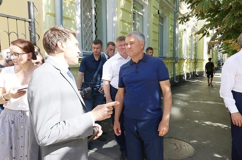 Шефство над памятником архитектуры взял Вячеслав Володин