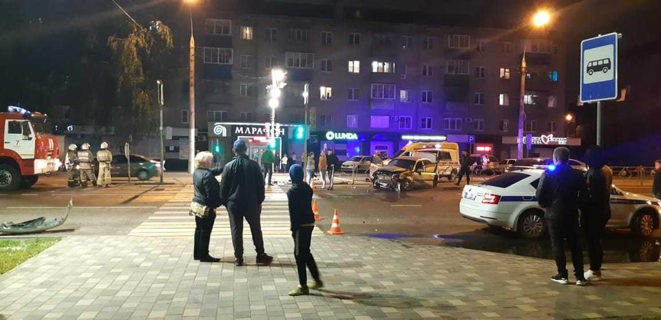 ДТП на улице Гагарина в Липецке