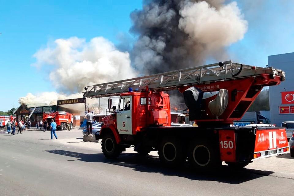 Пожар на барнаульском рынке.