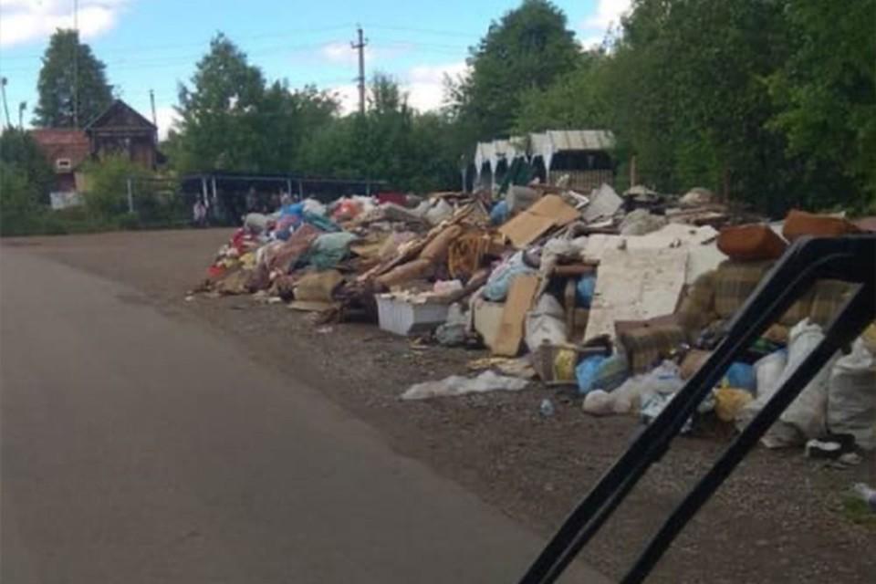Автобусы не могут развернуться из-за мусора Фото: пресс-служба ИПОПАТ