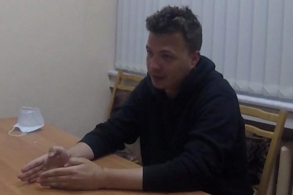 Роман Протасевич был задержан в Минске 23 мая. Фото: скриншот видео телеканала ОНТ