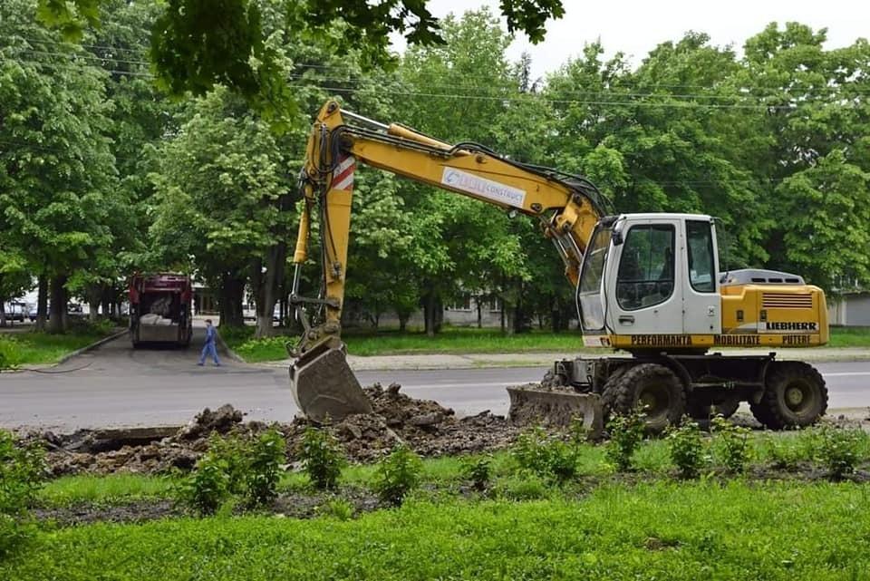 Ведутся работы по благоустройству парка (Фото: соцсети).