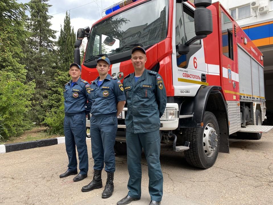 Сотрудники пожарной части № 6