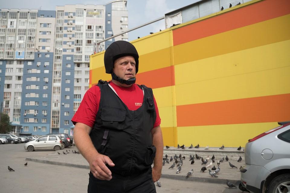 На фото - водитель-охранник ГБР-73 АБ ГВАРДИЯ Сергей Ушаков, выезжавший на происшествие. Фото предоставлено Агенством Безопасности ГВАРДИЯ.
