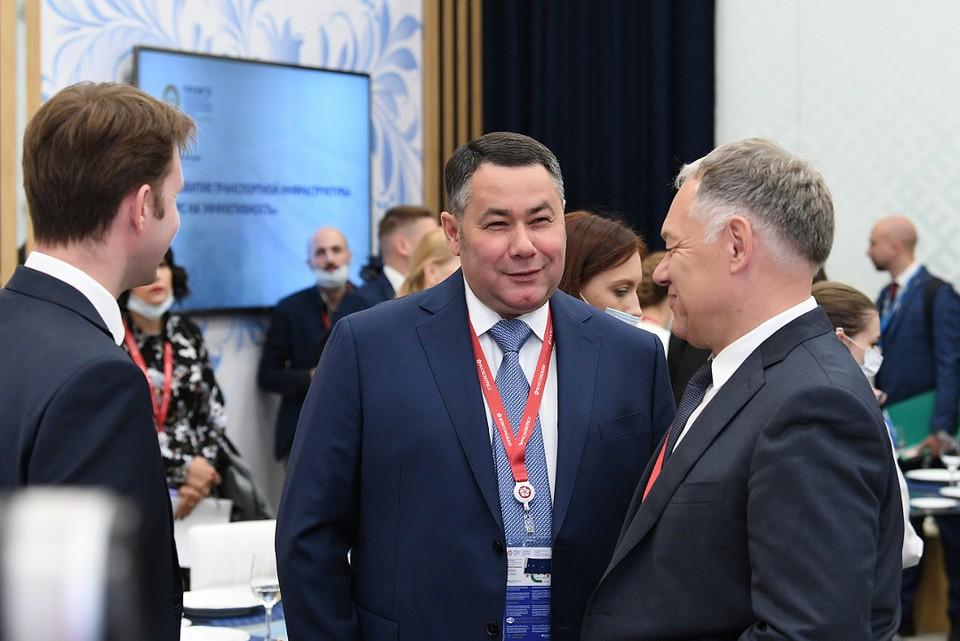 Игорь Руденя поучаствовал в деловом обеде на ПМЭФ. Фото: ПТО