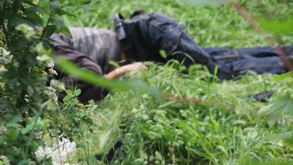 Труп обнаружили на Ботанике (Фото: столичная полиция).