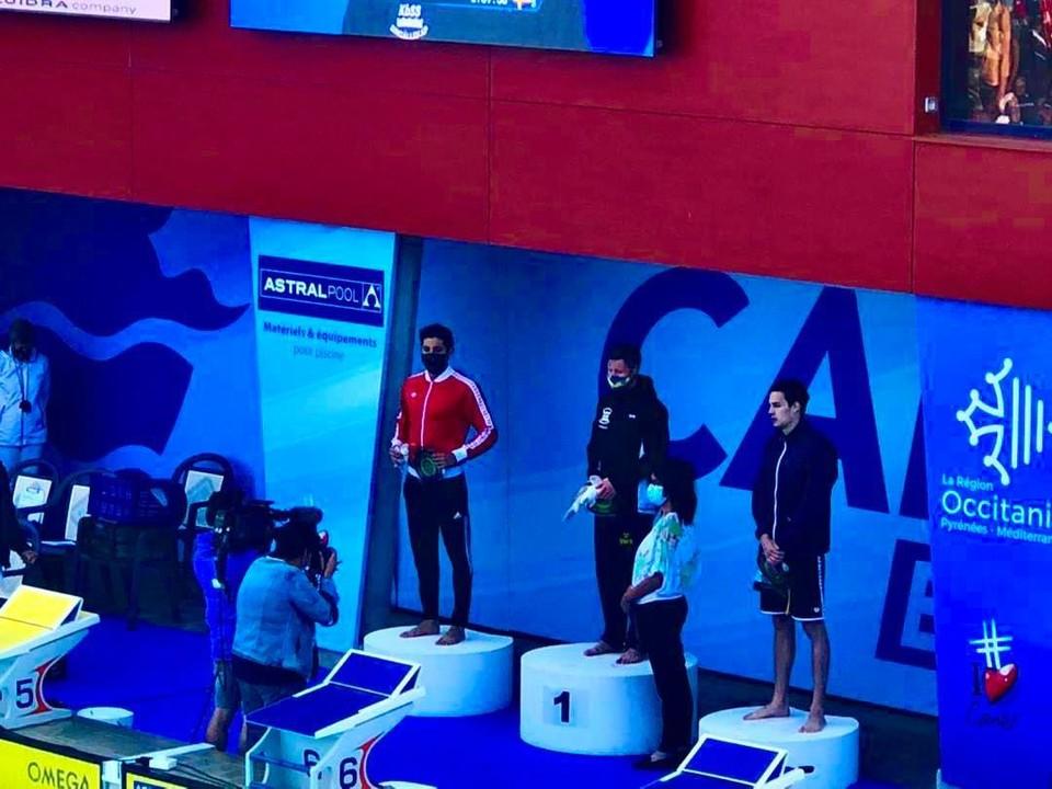 Кыргызстанский пловец завоевал уже три награды турнира.