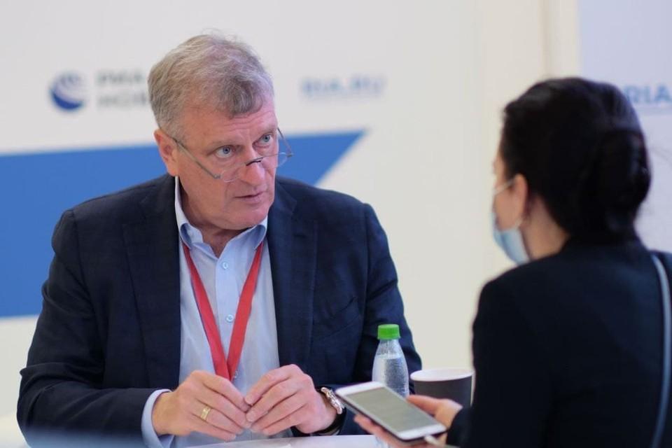 Во время работы ПМЭФ-2021 губернатор Кировской области Игорь Васильев ответил на вопросы журналистов. Фото: kirovreg.ru