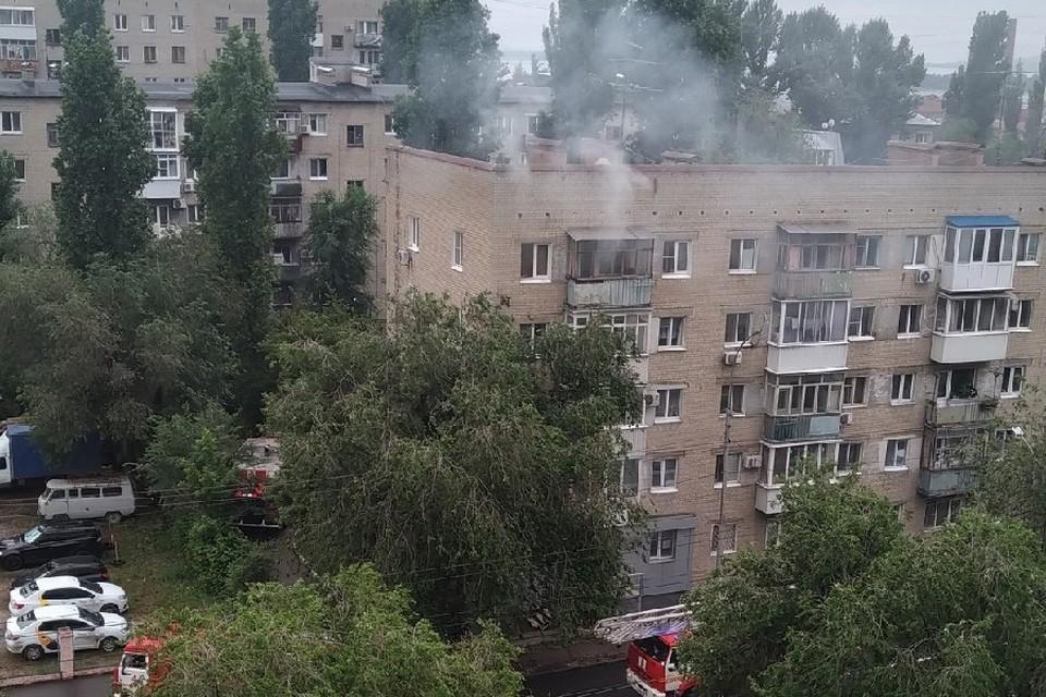 Пожар на улице Серова. Фото из соцсетей