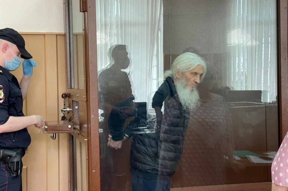 Отец Сергий находится под стражей с конца прошлого года. Фото: Басманный суд Москвы