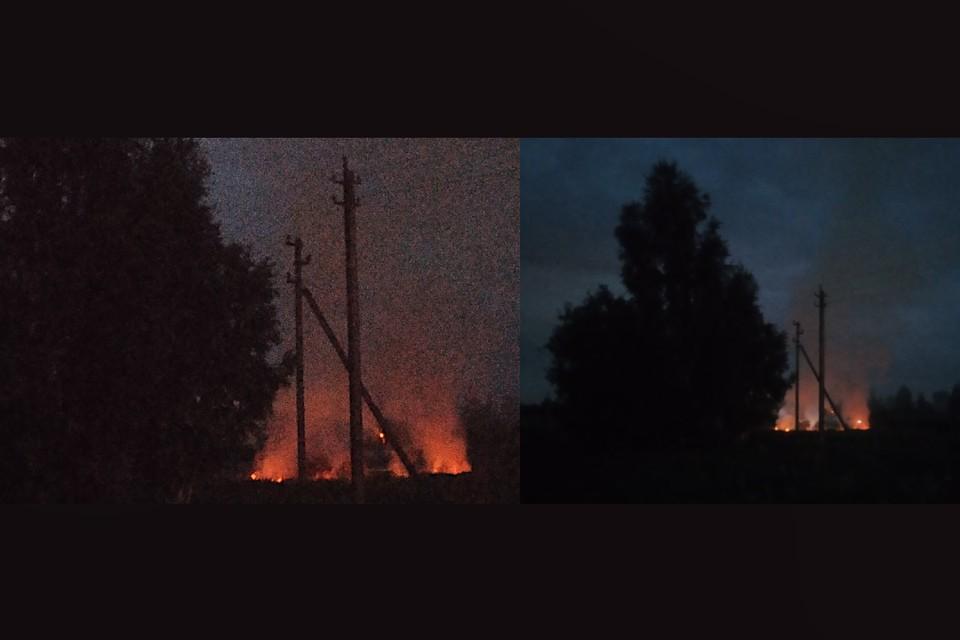 В Тверской области из-за фейерверка случился ландшафтный пожар. Фото: группа в ВК/Васильевское-Михайловское-Яковлево-Орудово.