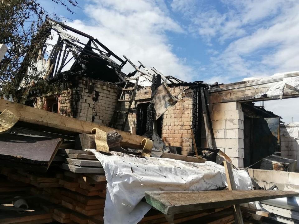 Пожар в Ленинском районе Саратова