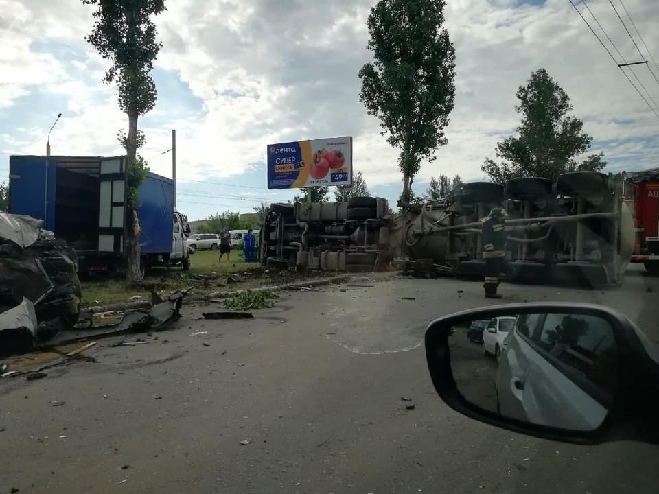 Авария в Балакове. Фото из соцсетей