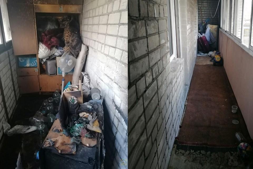 Пожар начался на балконе, его причина пока неизвестна. Фото: УМЧС Брестской области
