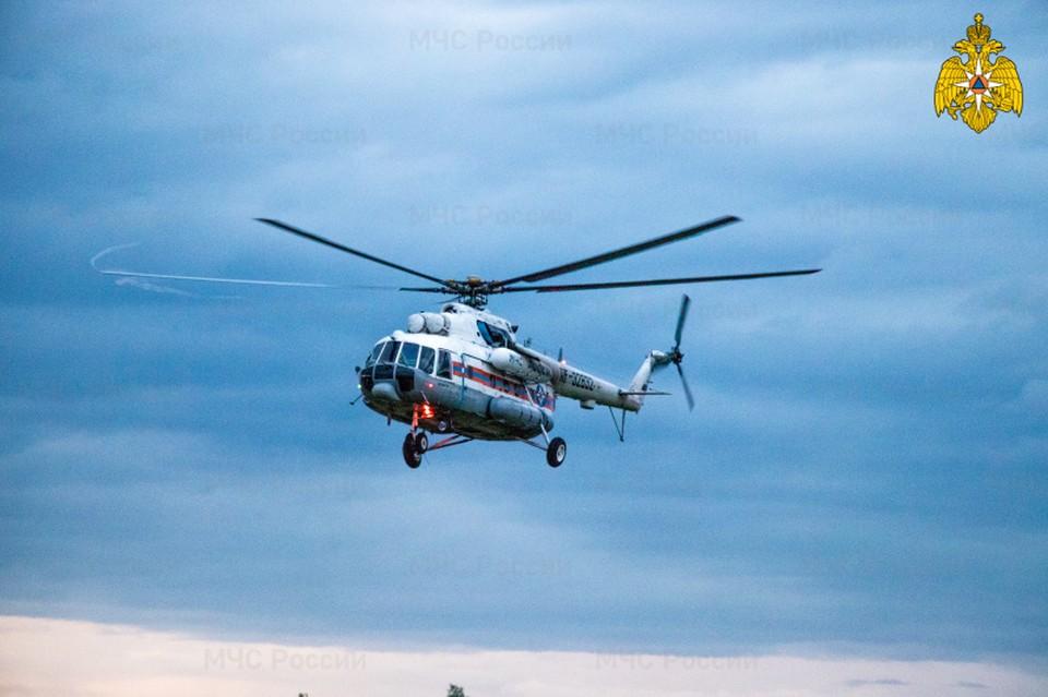 Вертолет санавиации вылетал в Вышний Волочек Фото: ГУ МЧС России по Тверской области