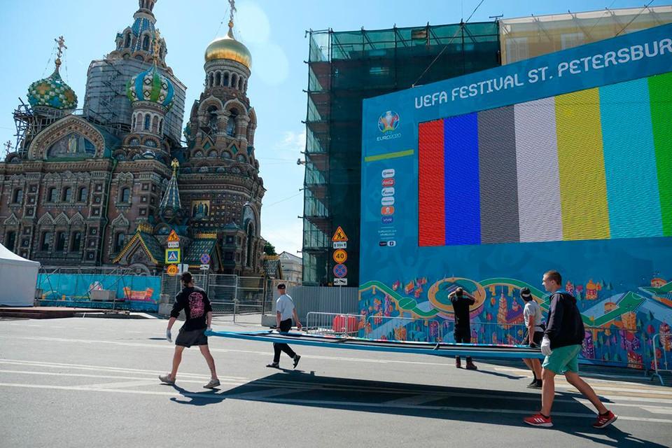 Фан-зона на Конюшенной откроется 11 июня.