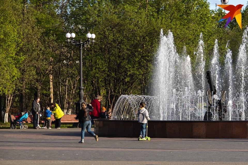 В Мурманске очередной жаркий день.