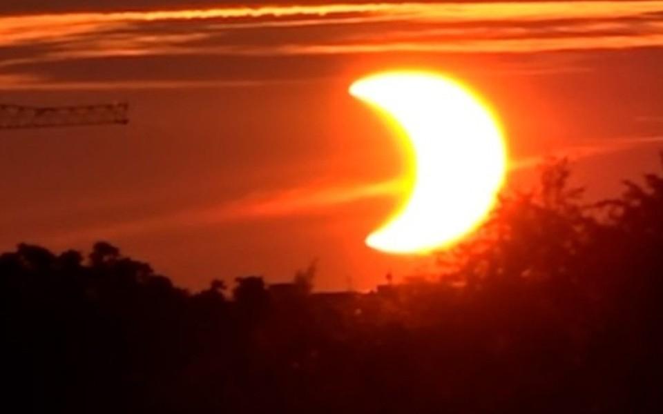 Видео солнечного затмения 10 июня 2021 появилось в сети