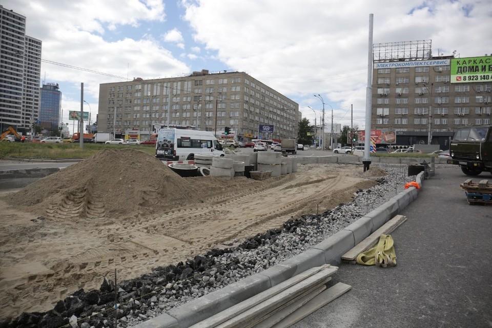 Работы идут полным ходом. Фото: предоставлено мэрией Новосибирска.