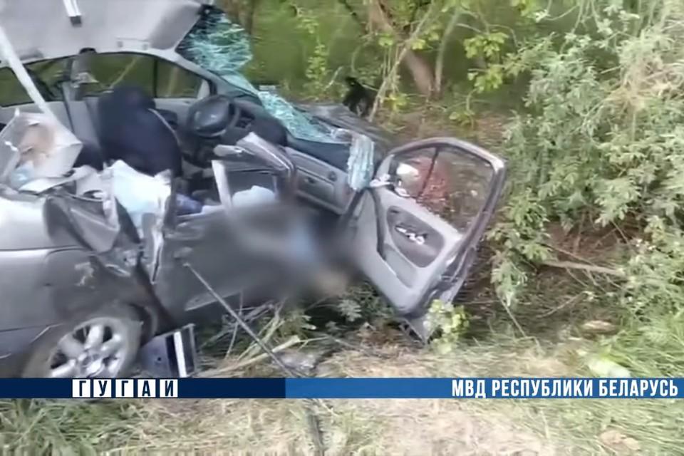 Две школьницы погибли в ДТП в Мостовском районе. Фото: скриншот видео МВД