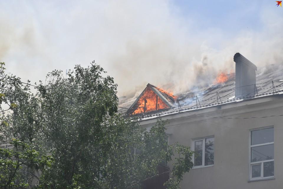 К восстановлению связи приступят после того, как территорию покинут пожарные