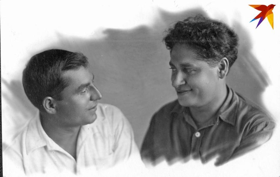 Авторы самой известной застольной песни «Бывайце здаровы, жывiце багата» Адам Русак и Исаак Любан. Фото: личный архив