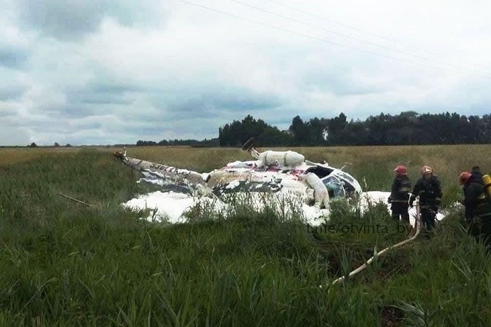 Стало известно, что произошло с вертолетом МЧС под Лунинецем. Фото: телеграм-канал «ОтВинта / Авиация Беларуси»