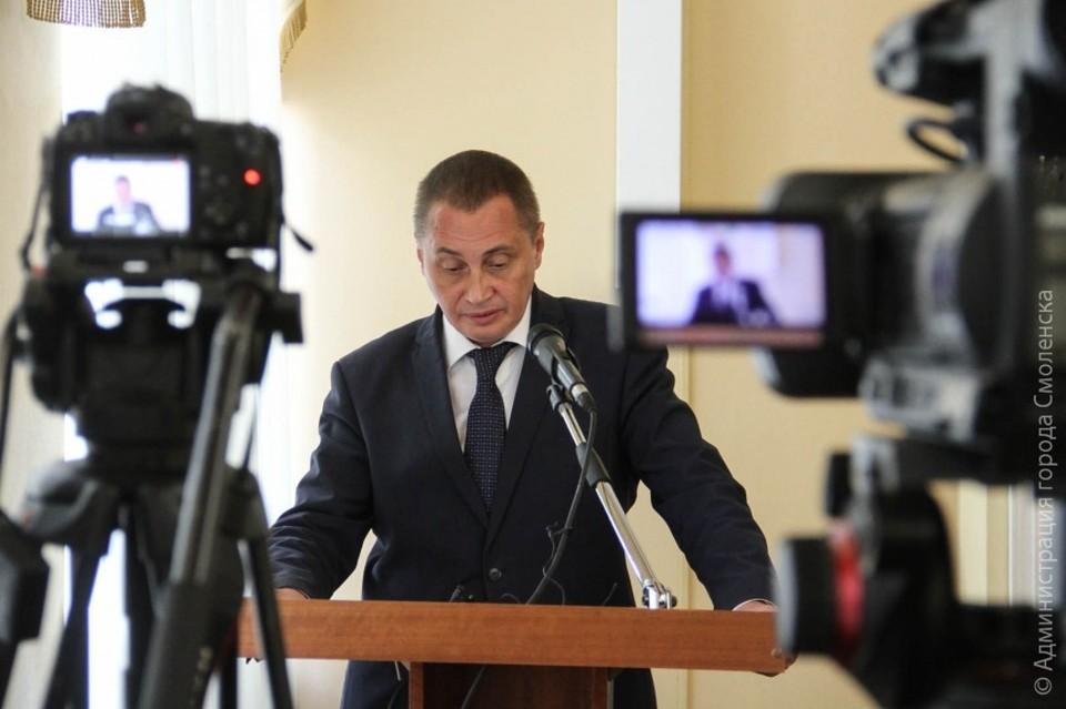 Андрей Борисов призвал смолян привиться от коронавируса. Фото: администрация Смоленска.