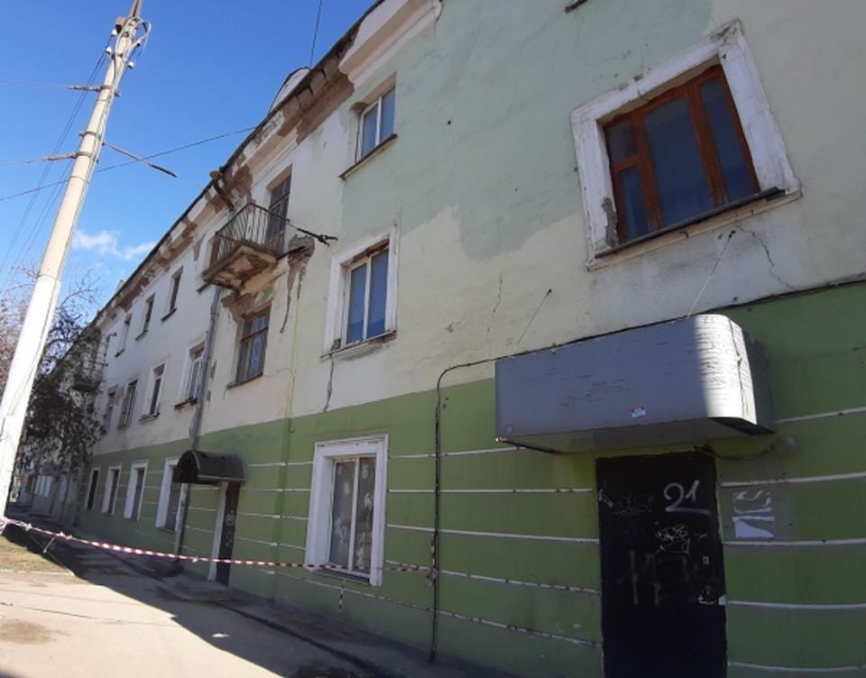 Дом с осыпающейся штукатуркой на Октябрьской в Орле все-таки отремонтируют. Фото: ОНФ Орловской области