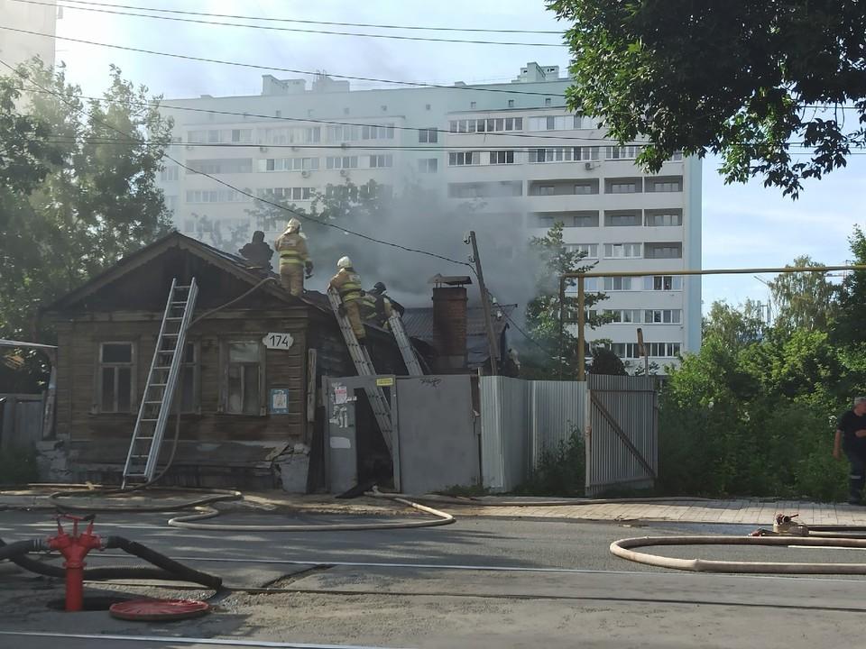 Пожар произошел в расселенном доме