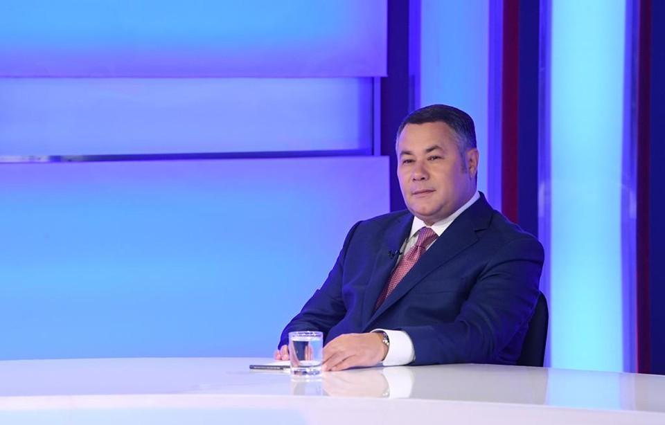 Губернатор Игорь Руденя стал гостем традиционного вечернего телеэфира.