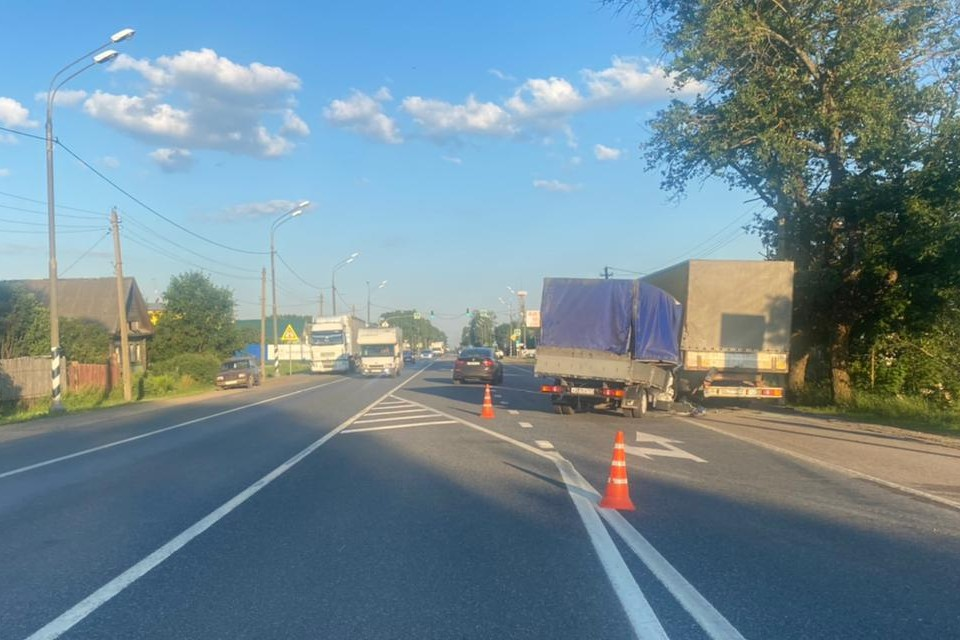 В аварии пострадал водитель фургона. Фото: УГИБДД по Тверской области.