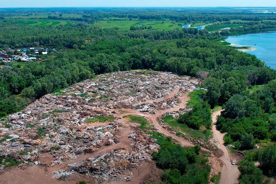 Территория незаконной свалки в черте Самары - около 10 гектаров. Фото: скрин видео