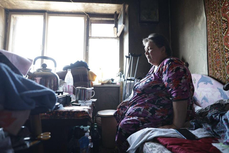 Женщина осталась без жилья после пожара. Фото: Фонд Святой Екатерины