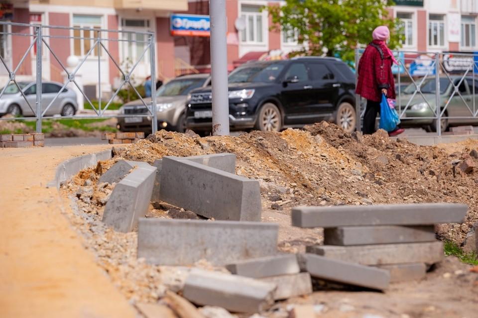 Ремонт Октябрьской улицы в Орле затягивается