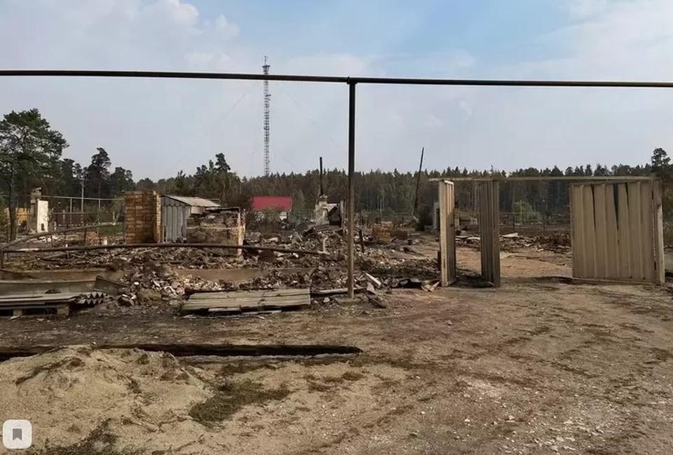 Так выглядит поселок Джабык после пожара. Фото: читатель КП-Челябинск