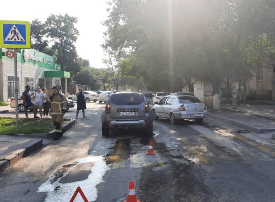 """Пешеходов сбили в нескольких метрах от """"зебры"""". Фото: пресс-служба областной ГИБДД"""
