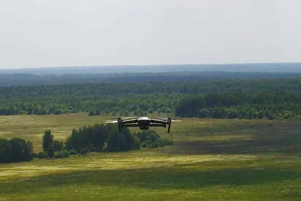 Специальные дроны позволяют вести воздушный мониторинг зеленых зон области. Фото: лесопожарная служба Брянской области.