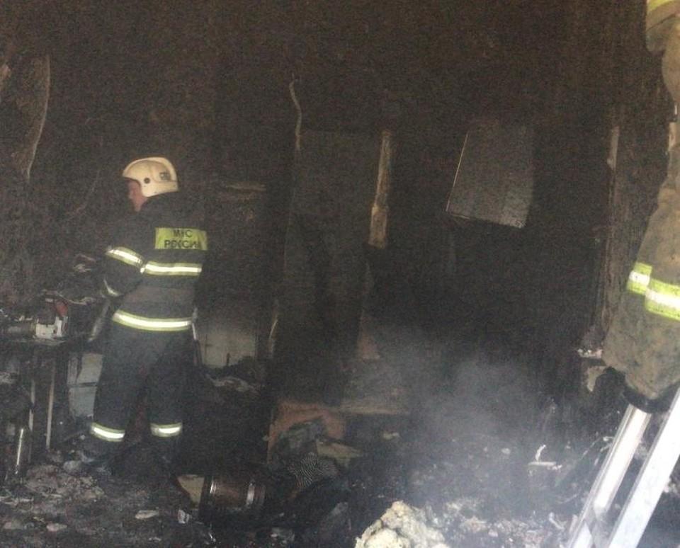 В Туле на Веневском шоссе сгорела комната в квартире