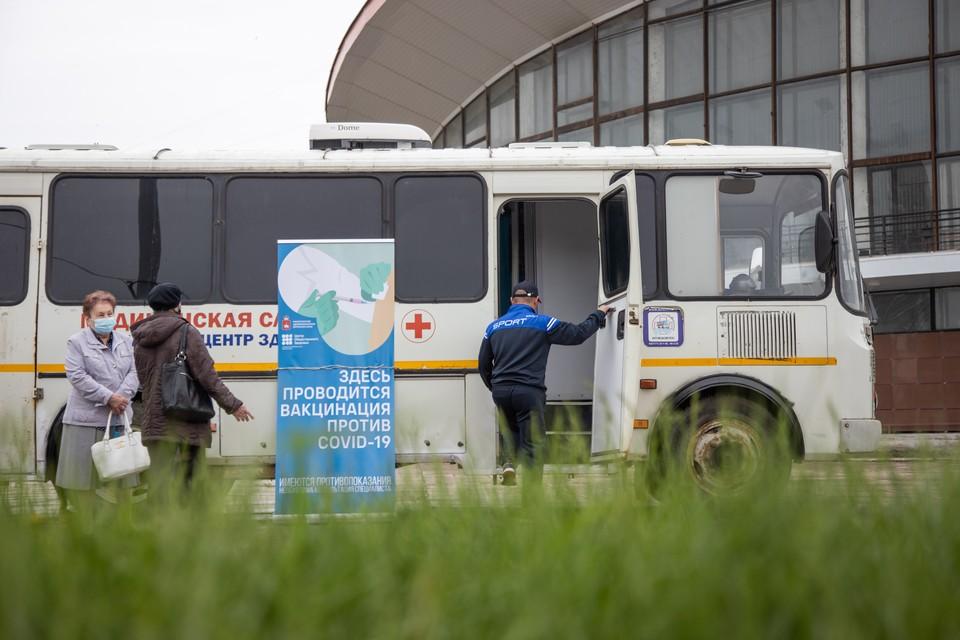 На прошлой неделе в Перми был дефицит вакцины и работал только один мобильный пункт у цирка.
