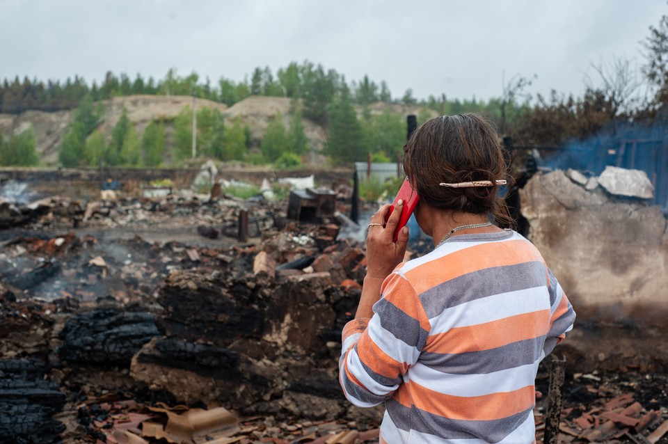 Большая часть домов уничтожена полностью