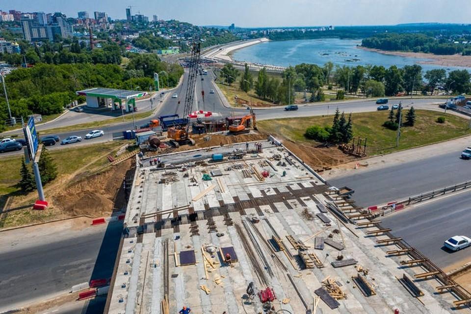 Один из самых масштабных проектов этого года - реконструкция развязки на улице Валиди. Фото: пресс-служба администрации Уфы