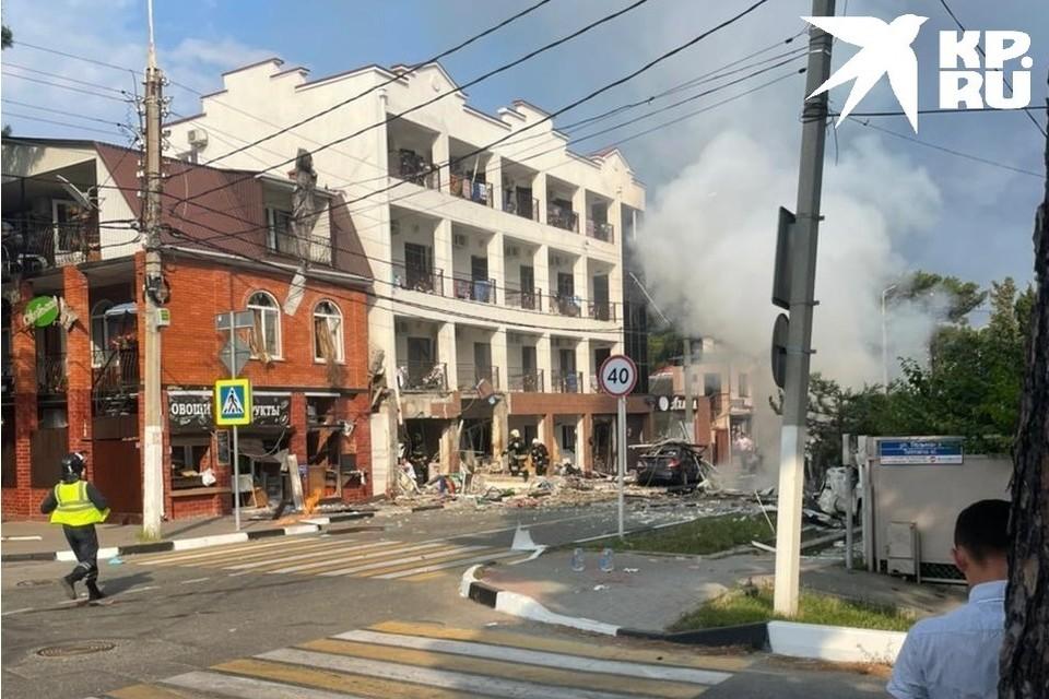 Фото с места взрыва в Геленджике.