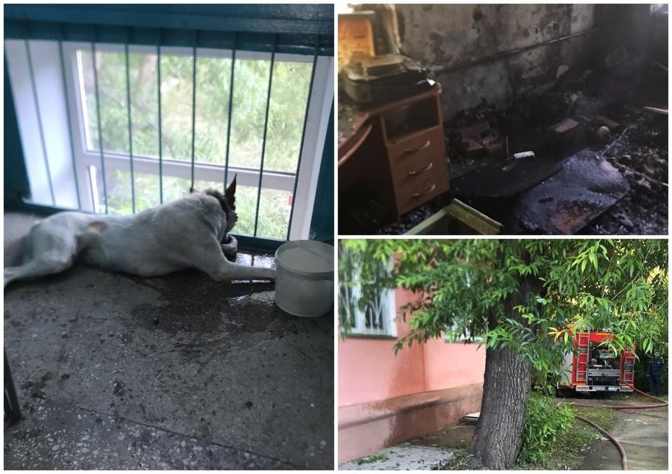 Пожар начался из-за курения в квартире