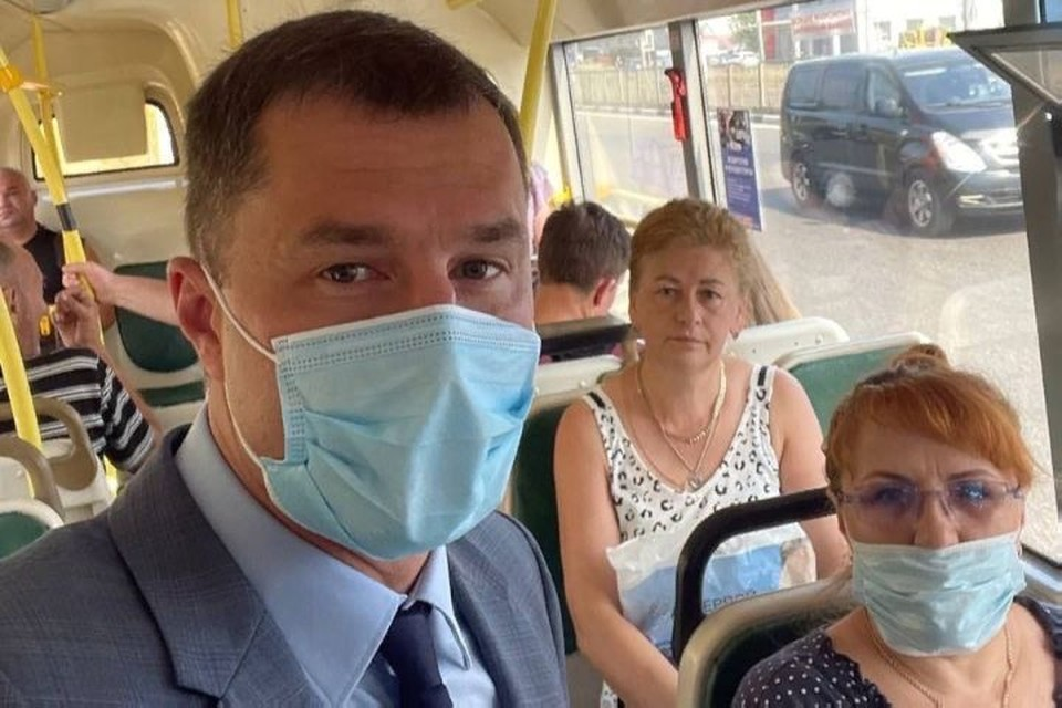 Мэр признал некоторые недочеты новой транспортной системы Фото: телеграмм-канал Владимира Волкова